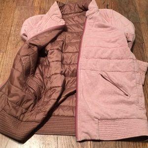 Lululemon Bark Berry Bomber jacket pink sz 4